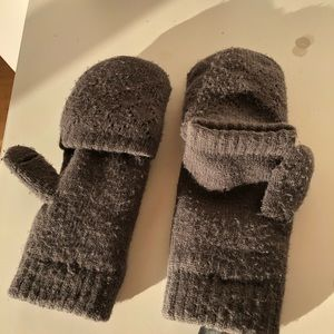 Accessories - Grey Reversible Mittens